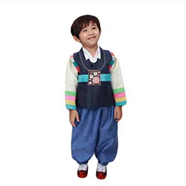 11a0db94bb65 Amazon.com: Korean Traditional Dress Boys Hanbok Rainbow Vest Baby Clothes  Korea Costume: Clothing
