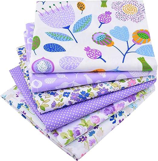 Paquete de 6 piezas de tela de algodón para acolchado, 46 cm x 56 ...