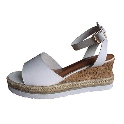 ec3b58a93a011 Amazon.com: ❤ Mealeaf ❤ Retro Womens Fashion Open Toe Ankle ...