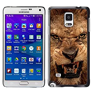 Stuss Case / Funda Carcasa protectora - Roar Lion Angry Close Eyes Teeth Portrait - Samsung Galaxy Note 4 SM-N910