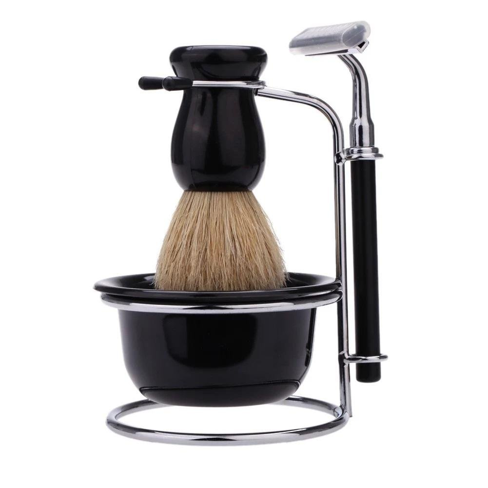 Shaving Set, Portable Safety Men's Razor Shaving Set Direct Sale with 2 Layer Tool Holder Convenient for Home, Hotel and Journey. WINNER