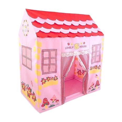 5448f6b7a664d8 Tende da Gioco per Bambini, Spaziosa Colorata Casetta da Gioco con Vedere  Attraverso Finestre e