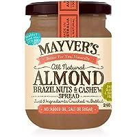 Mayvers, Almond Brazil & Cashew Nut Spread, 240g