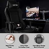UOMAX Gaming Chair, Black Reclining Massage Gamer