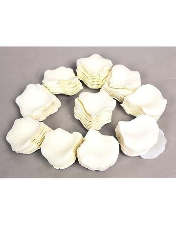 Pétalos de Rosa en Seda Blanco para Decoración Bodas Fiestas Confeti