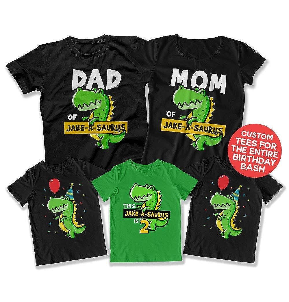 Amazon Kids Dinosaur Shirt 2nd Birthday Bundle Party Ideas For T Rex Matching Shirts Bday DAT 3108 09 11 18 Clothing