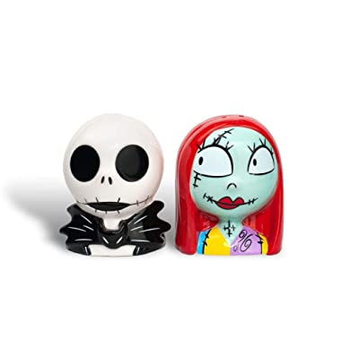Official  The Nightmare Before Christmas  Salt and Pepper Shakers | Jack and Sally Shaker Set