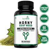 Simply Herbal Horny Goat Weed Extract With Maca - 800 Mg Veg Capsules - 90 Count