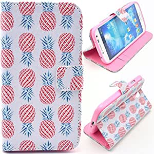 Einzige Slim Fit Leather Case Cover for Samsung Galaxy S4 i9500 (Round Pineapple) with Free Universal Screen-stylus