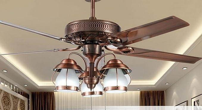 BBSLT-Vidrio decorativo luces del ventilador, ventilador ...