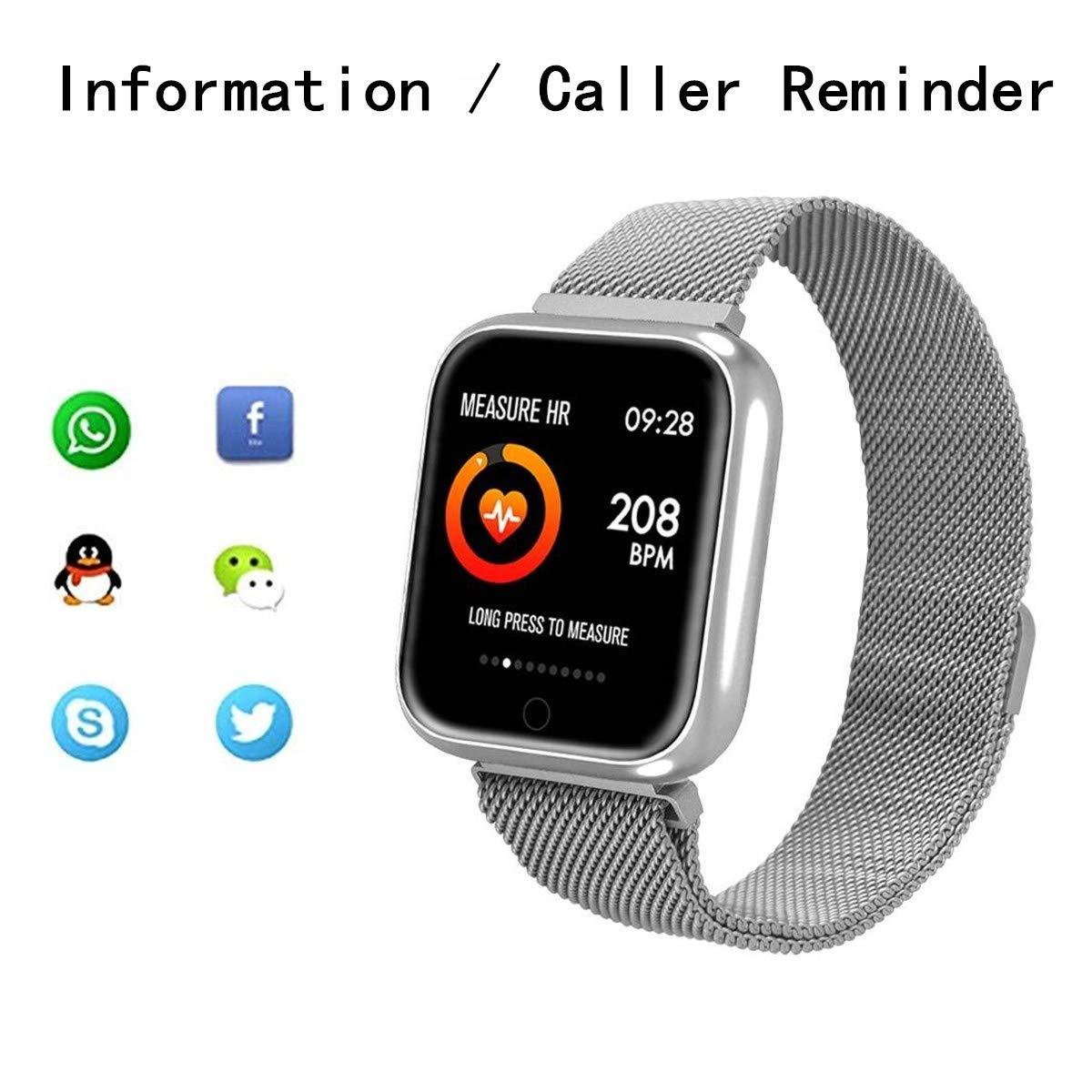 RanGuo - Reloj Inteligente para Hombres, Mujeres y niños, Deportes al aire libre impermeable Smart Watch para sistema Android y iOS, Apoyo ...