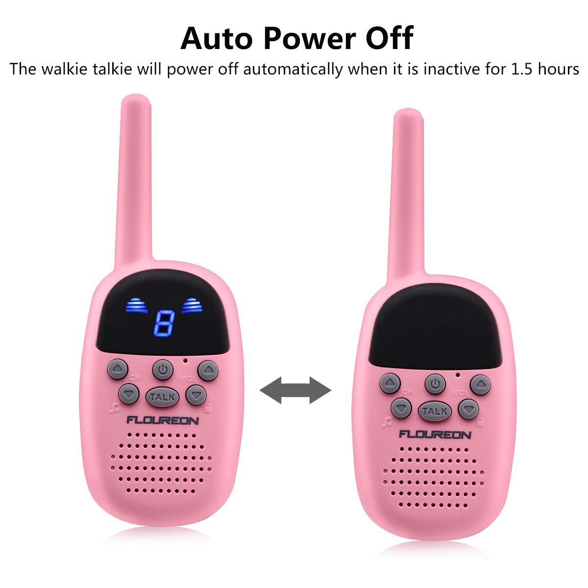 Spronto Kids Walkie Talkies 9 Channel Two Way Radio Twins Walkie Talkies FRS/GMRS Handheld Interphone Long Range for Trips Outdoor Activities (Pink) by Spronto (Image #6)