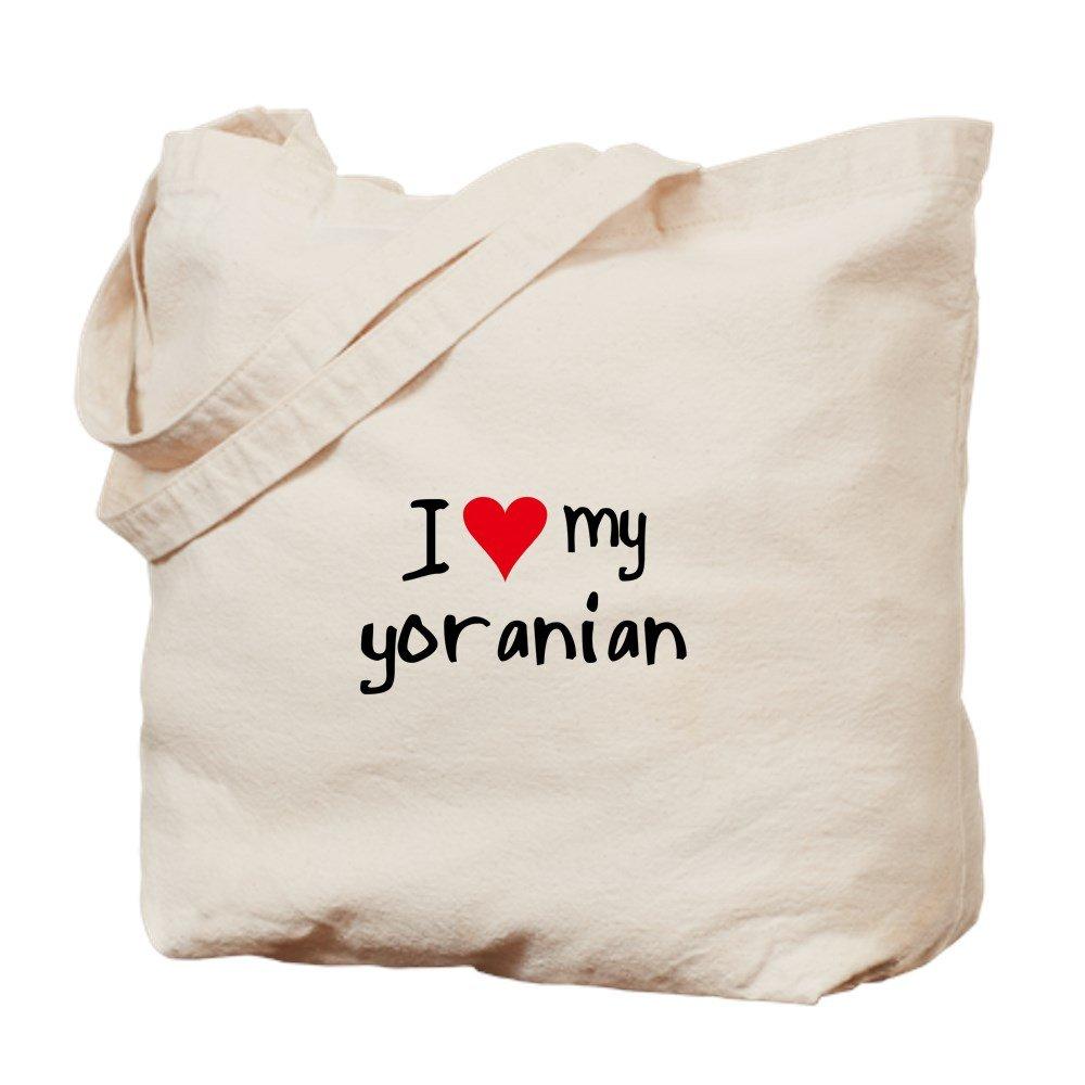 CafePress – I Love My yoranian – ナチュラルキャンバストートバッグ、布ショッピングバッグ B01A5QW790