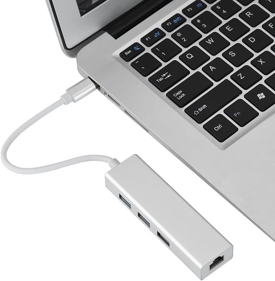 USB 3.0 HUB Type C to RJ45 Ethernet Gigabit LAN 3 Ports USB Adapter Lightweight and Small Size for Android Richer-R USB 3.0 HUB for Linux