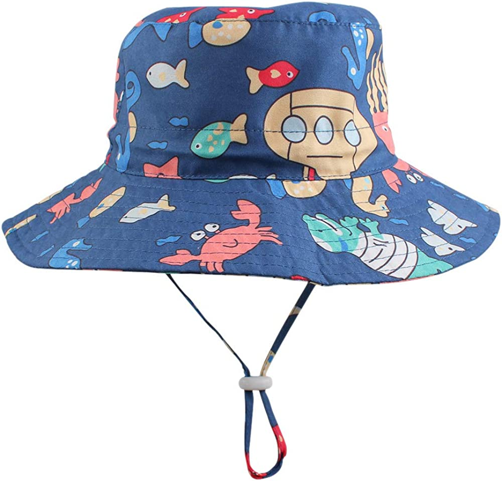 Baby Boy Sun Hat Kids Summer Bucket Hats Sun Protection Beach Cap for Infant Toddler Boys 0-4 Years