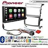 Volunteer Audio Pioneer AVH-2440NEX Double Din Radio Install Kit with Apple CarPlay, Android Auto and Bluetooth Fits 2007-2012 Hyundai Veracruz (Automatic A/C controls)