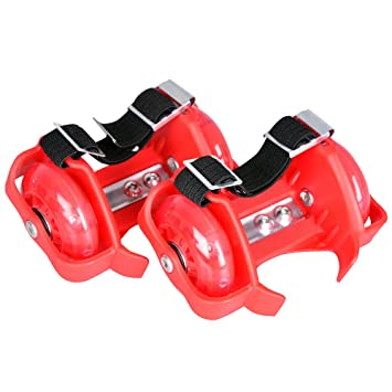 Flashing Roller - Ruedas para los zapatos (peso máximo: 90 kg, con luces), color rojo: Amazon.es: Deportes y aire libre