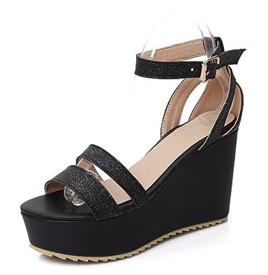 Sandales à brides Femme Oaleen noires PSww7lYw