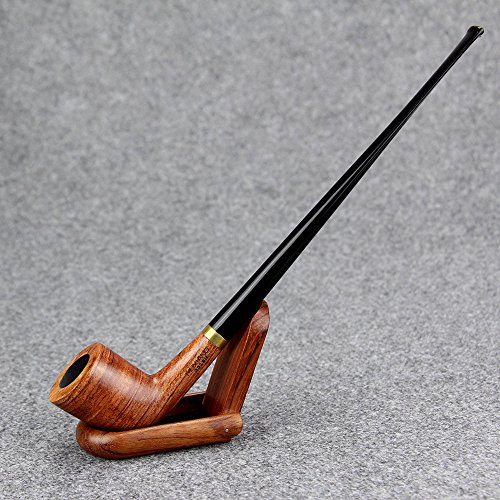MX-301BH Lobular Ebony Smoking Pipe 9mm Filter Element Tobacco Pipe Tobacco Smoking Pipe Handmade Wooden Durable Tobacco Smoking Pipe