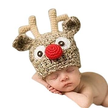 Nuolux Weihnachten Baby Handarbeit Gestrickt Häkeln Stricken Rentier