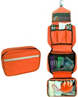 Travelmall Cosmetic Pouch Toiletry Bags Travel Business Handbag Waterproof Compact Hanging Personal Care Hygiene Purse Christmas Gifts (orange)