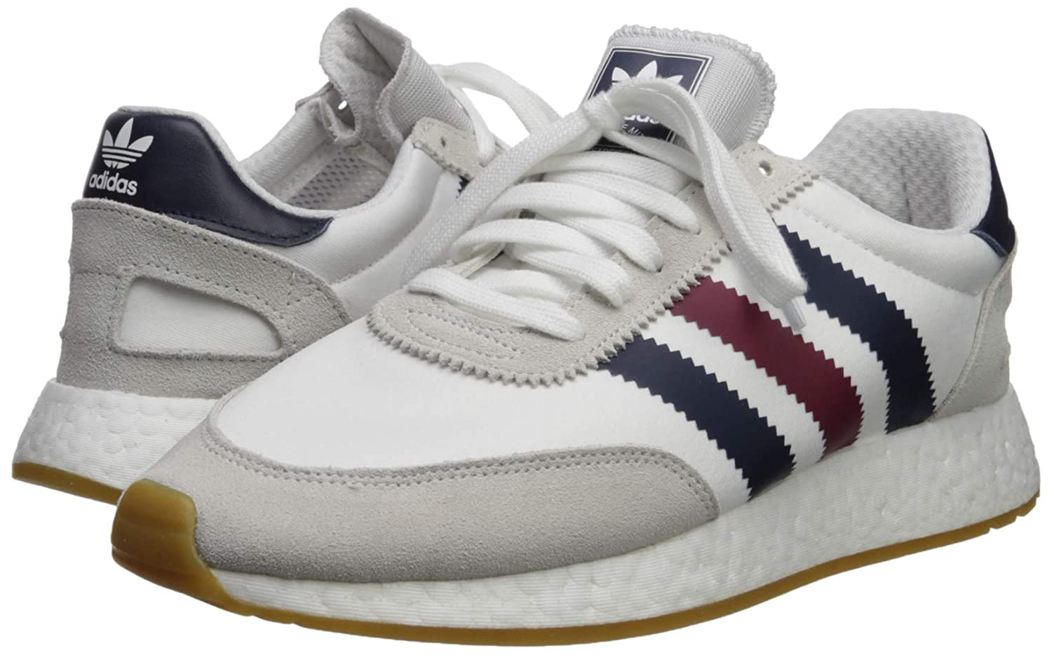 adidas Originals Men's I 5923 Running Shoe, White BurgundyCollegiate Navy, 11.5 M US