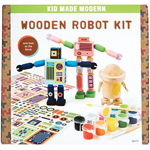 Kid Made Modern Wooden Robot Craft Kit - Kids Arts & Crafts Toys