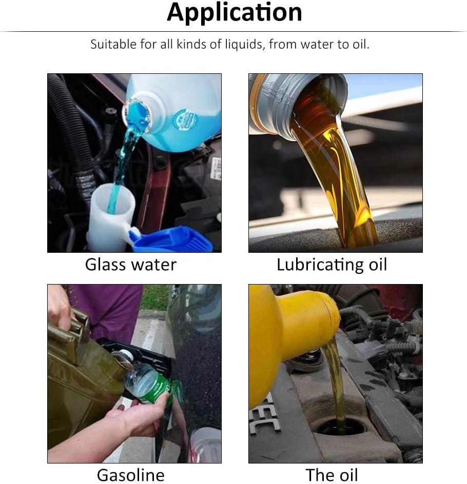 8/cm bocca larga imbuto carburante universale Automotive veicolo plastica imbuto di riempimento beccuccio flessibile prolunga auto imbuto per acqua refrigerante trasmissione olio motore a benzina