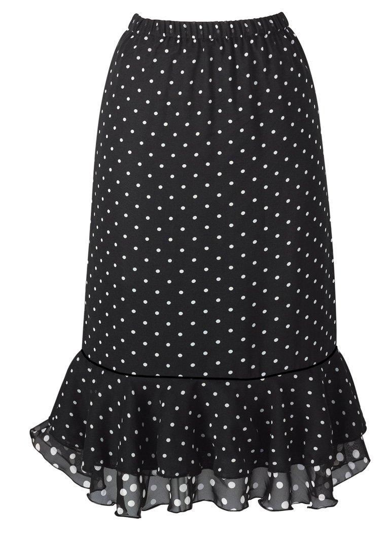 AmeriMark Dotted Flounced Skirt