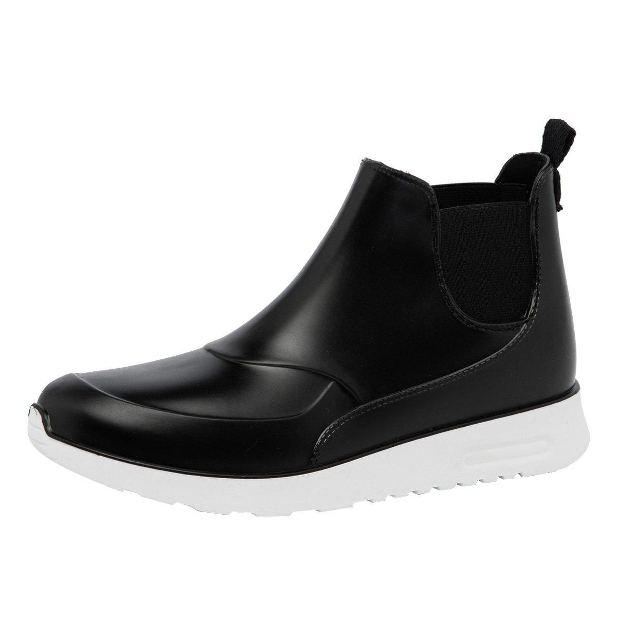 Dear Time Men Rain Boot Slip-On Flat Ankle Boots Waterproof Shoes US 11