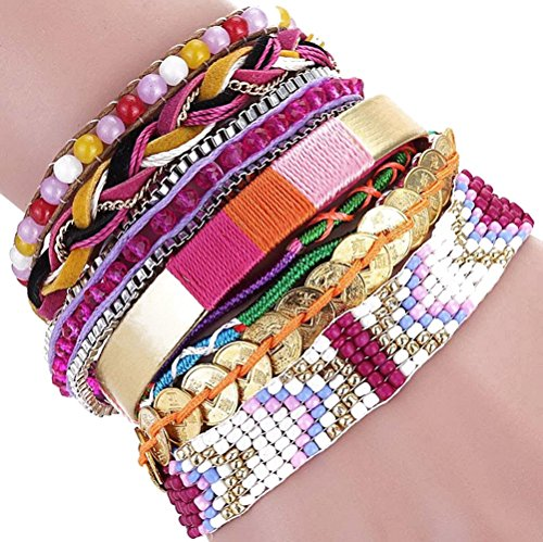 The Starry Night Beads Hand-woven Brazil Multi-layer Mixed Color Joker Alloy Magnetic Buckle bracelet (Heartthrob Exhaust Ecoboost compare prices)