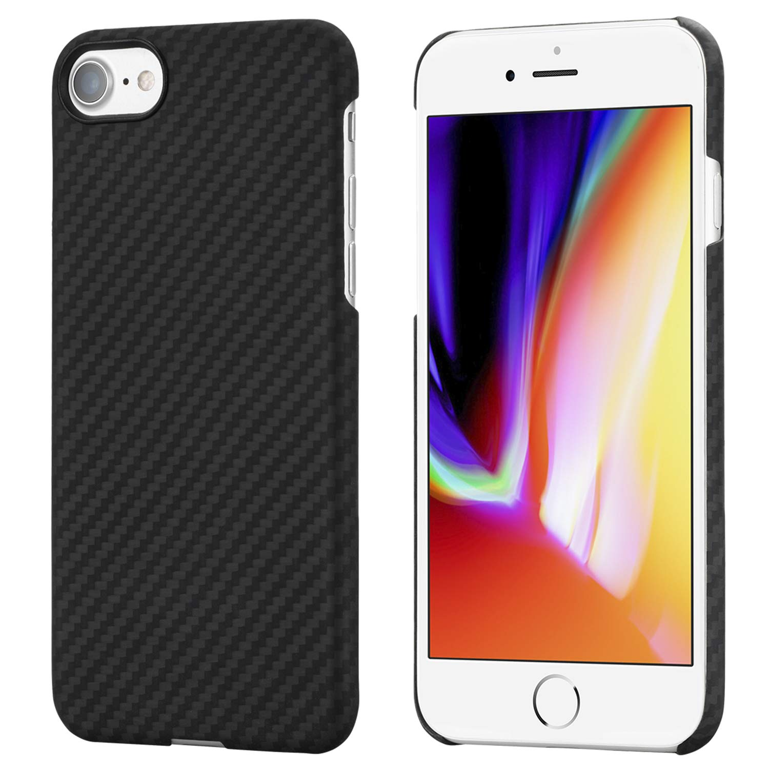 the latest bce20 b933d iPhone 8 / iPhone 7 Case, PITAKA Magcase Aramid Fiber[Real Body Armor  Material]Phone Cover, Ultra Thin(0.65mm) Super Light(12g) Snap-on ...
