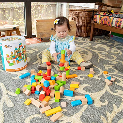(Fat Brain Toys 100 pc Block Set - Timber Blocks - 100 Piece Wooden Block Set)
