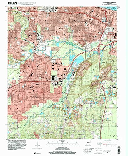 Little Rock AR topo map, 1:24000 scale, 7.5 X 7.5 Minute, Historical, 1994, updated 2000, 26.8 x 22 IN - Paper (Rosedale Arbor)