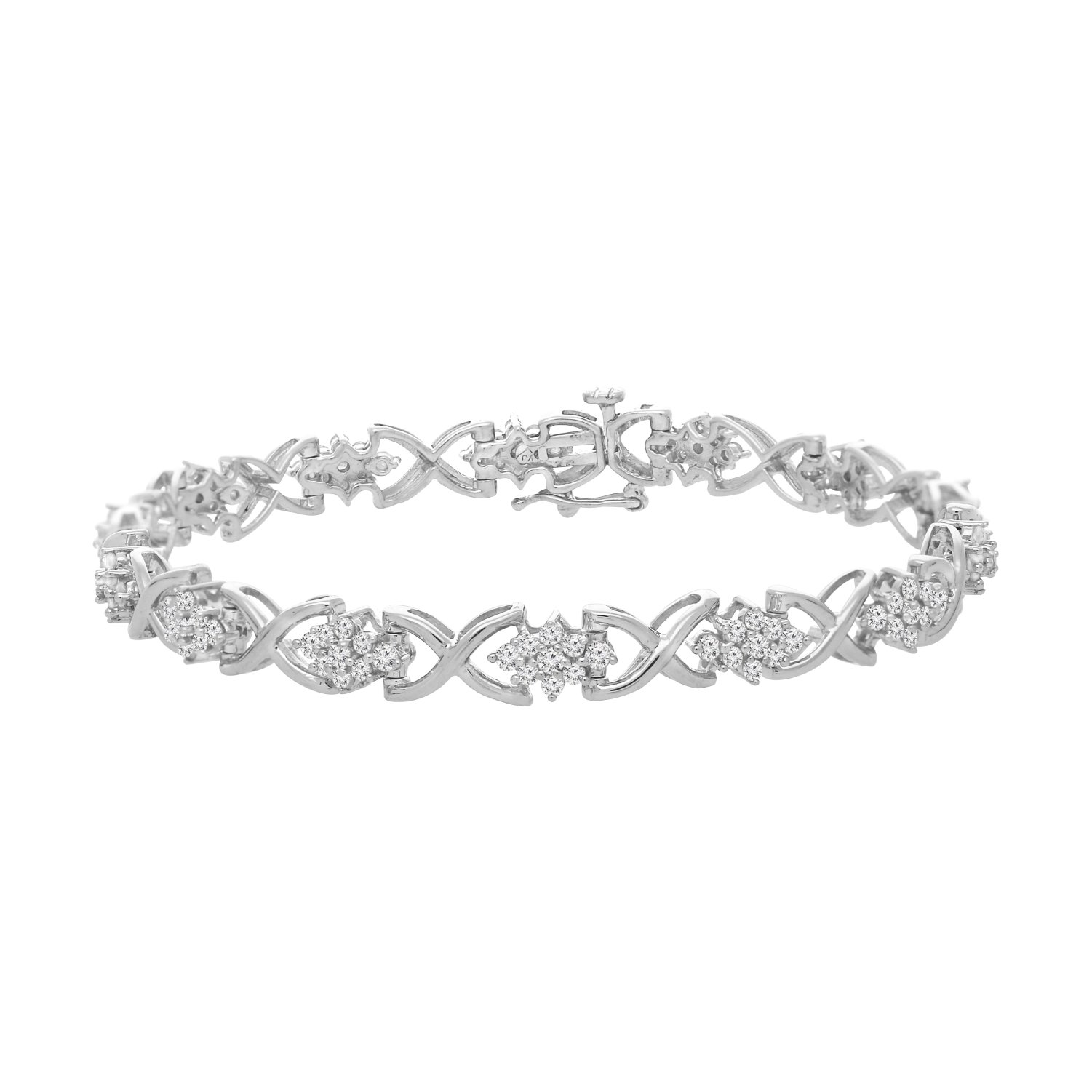 Sterling Silver Round Cut Diamond Bracelet (2.25 cttw, I-J Color, I2-I3 Clarity) by Original Classics