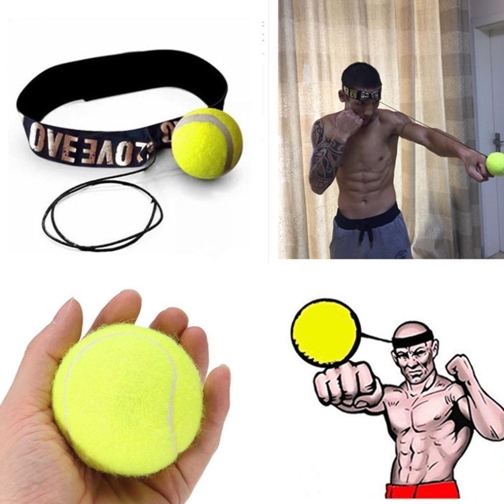 Fight Ball Reflex, Malloom Punch Ejercicio para el Boxeo, MMA y Otros Deportes de ComBate (B)