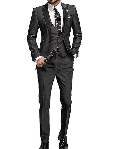 Amazon.com: pretygirl para hombre Slim Fit un botón novio ...