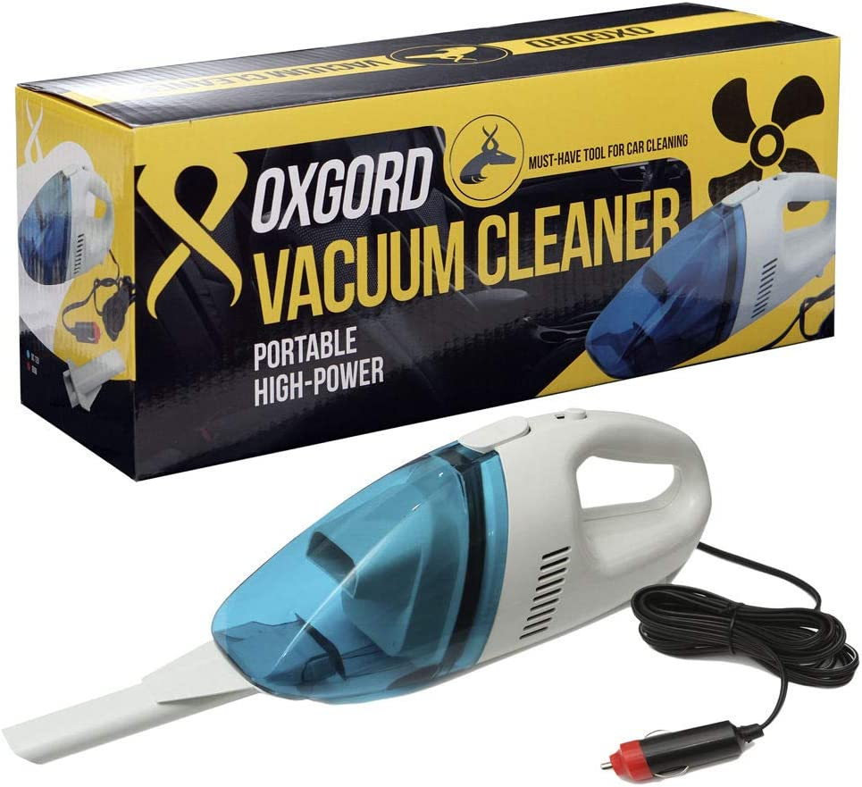Vehicle Auto Oxgord Portable Vacuum Cleaner, 60W, AVAC01-WH-BL