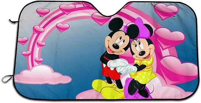 con dise/ño de Mickey Mouse Parasol para Ventana Trasera de Coche