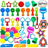 66 Pieces Clay Dough Tools Kit with,w/Animal Shapes Dough Extruders Toys,Kids Pretend Party Pack