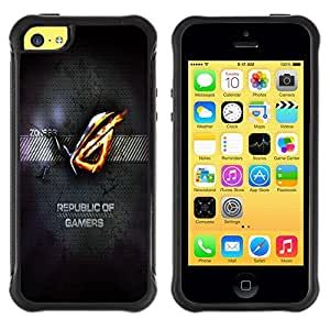 Suave TPU GEL Carcasa Funda Silicona Blando Estuche Caso de protección (para) Apple Iphone 5C / CECELL Phone case / / Republic Of Gamers /