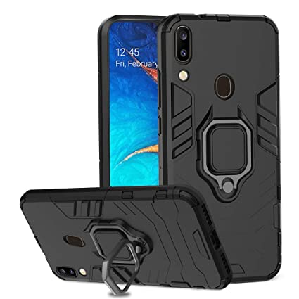 Ferilinso Case for Samsung Galaxy A20 / A30, Stylish Dual Layer Hard PC Back Case with Ring Grip Kickstand & Support Magnetic Car Mount Function Cover ...
