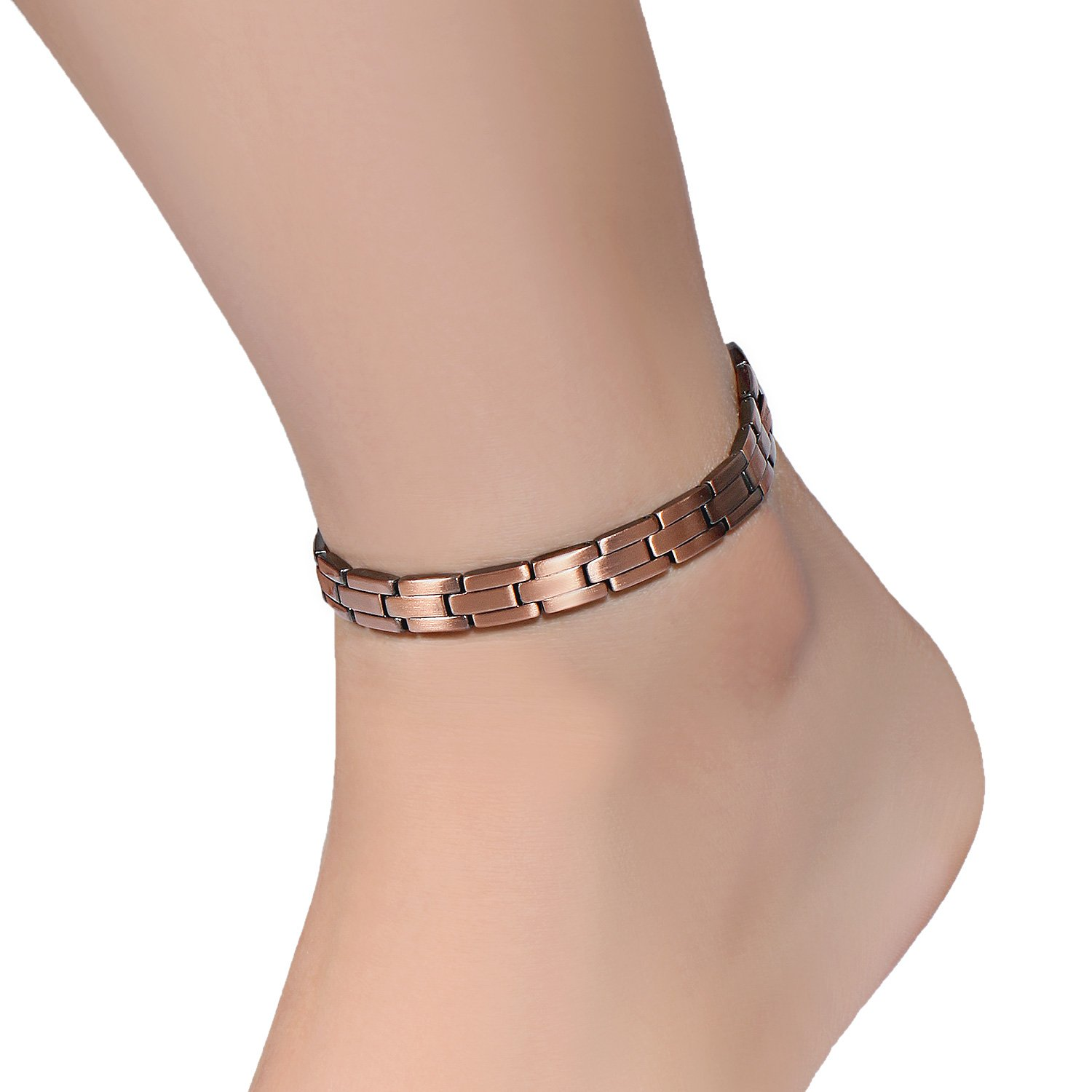 Rainso Womens Copper Magnetic Therapy Anklets for Arthritis Wristband