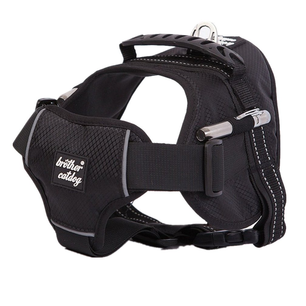 Black L Black L Fangfang No-Pull Dog Harness. Adjustable Outdoor Adventure Easy Walk Training Pet Vest with Handle for Small Medium Large Dogs Black L