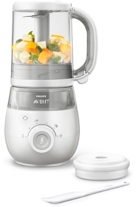 Philips Avent SCF875/02 - Procesador de alimentos para bebé 4 en 1, color blanco