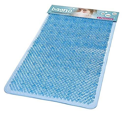 Tapete Banho Plástico Pincéis Atlas Azul 65x36cm