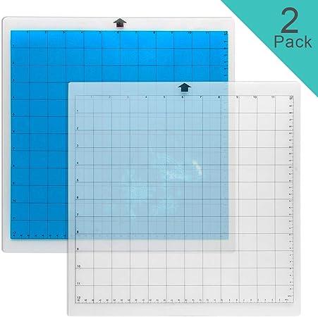 CoiTek - Alfombrilla de corte, 2 unidades, 12 x 12 pulgadas, adhesivo y adhesivo de repuesto para manualidades de costura, álbumes de recortes (1 transparente + 1 azul): Amazon.es: Hogar