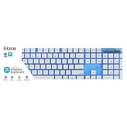 9ef4c979a6a Amazon.com: iHome IHK2100N Translucent Wireless Full Size Keyboard ...