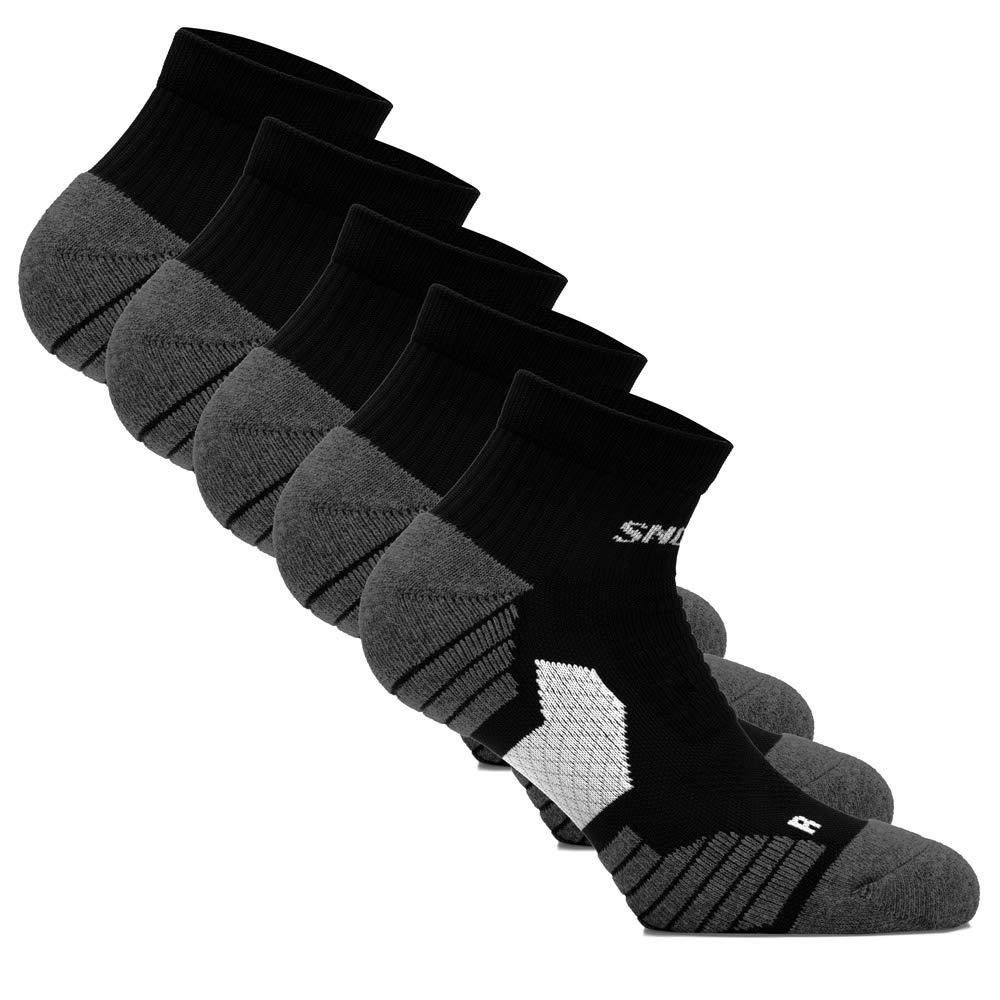Snocks Damen & Herren kurze Sport & Lauf Socken (5 Paar) Ideal zum Joggen, Laufen etc. (Gr. 39-46) - Baumwolle
