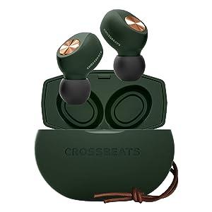 CROSSBEATS Pebble 2020 True Wireless in-Ear Earbuds Earphones Headphones Bluetooth 5.0 Microphone 3D Sound 20Hrs Playtime Auto Pairing Stereo Calls Deep Bass (Imperial Jade)